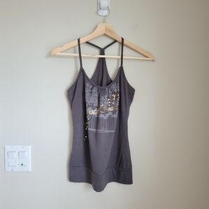 4/$25 Garage small racer back tank top